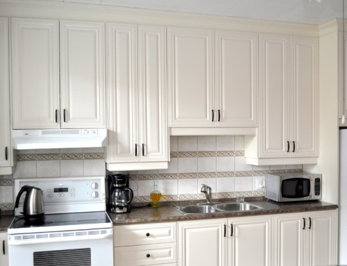 Ivory thermoplastic cabinets