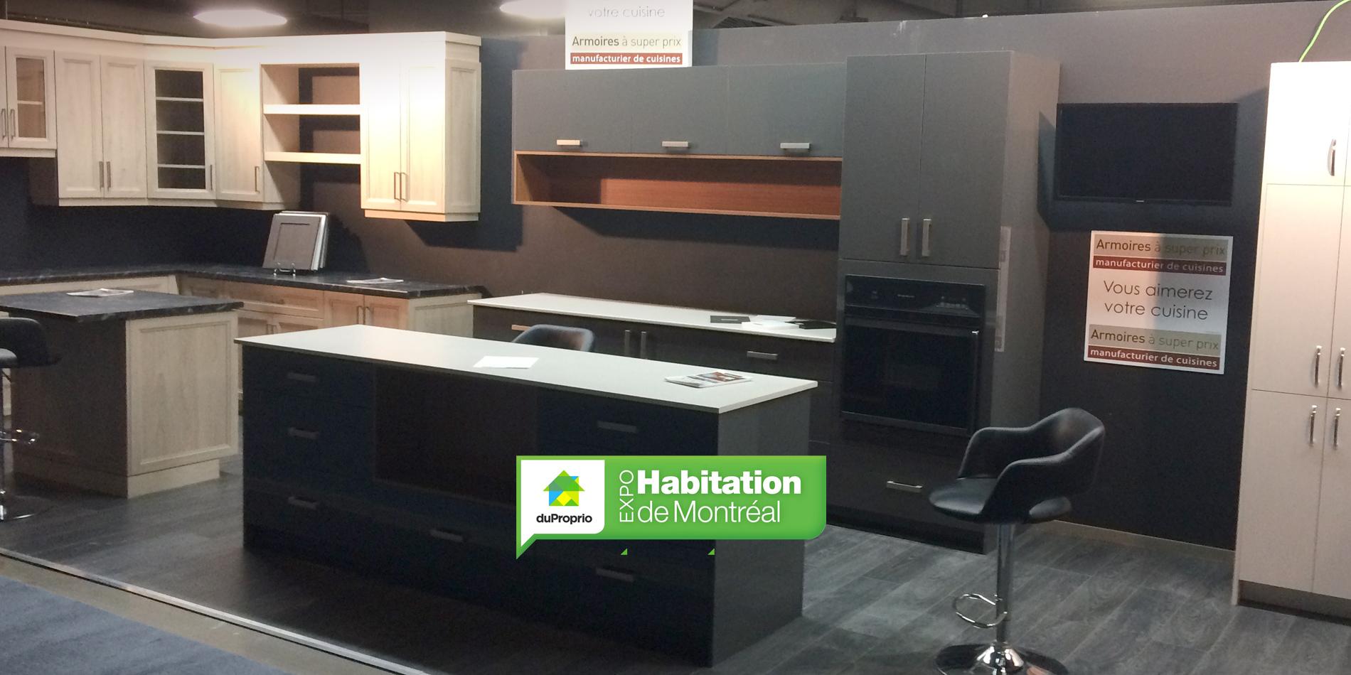 Visitez nous expo habitation de montr al armoires for Accessoires de cuisine montreal