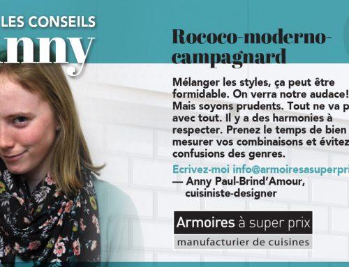 Protégé: Les conseils d'Anny : Rococo-moderno- campagnard