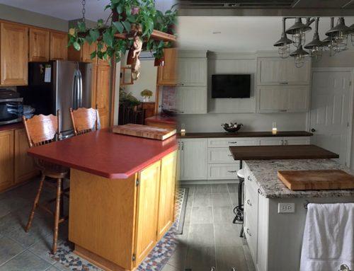 Avant/après: transformation de cuisine de Mme H.