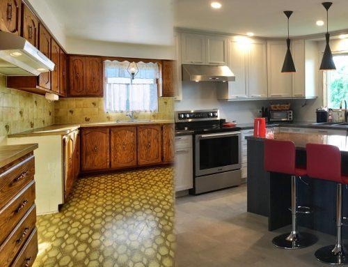 Avant/après: rénovation de cuisine de M.T.