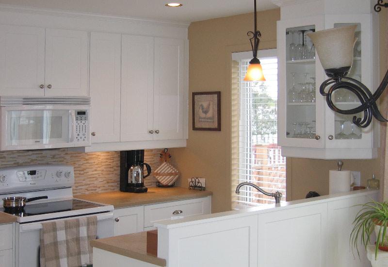 Cuisine en thermoplastique mod le shaker blanc armoires de cuisine armoires super prix - Cuisine en blanc ...